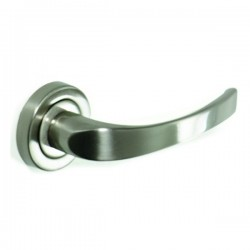 Lever handle Pino on round rose