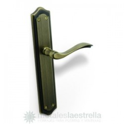 Lever handle Pino on backplate